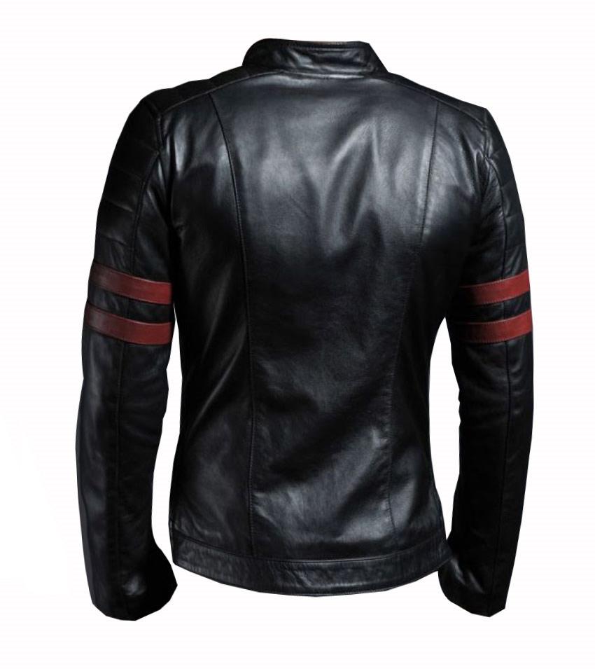 8842cb42c82 Men s New Black Genuine Lambskin Leather Stylish Motorcycle Jacket ...