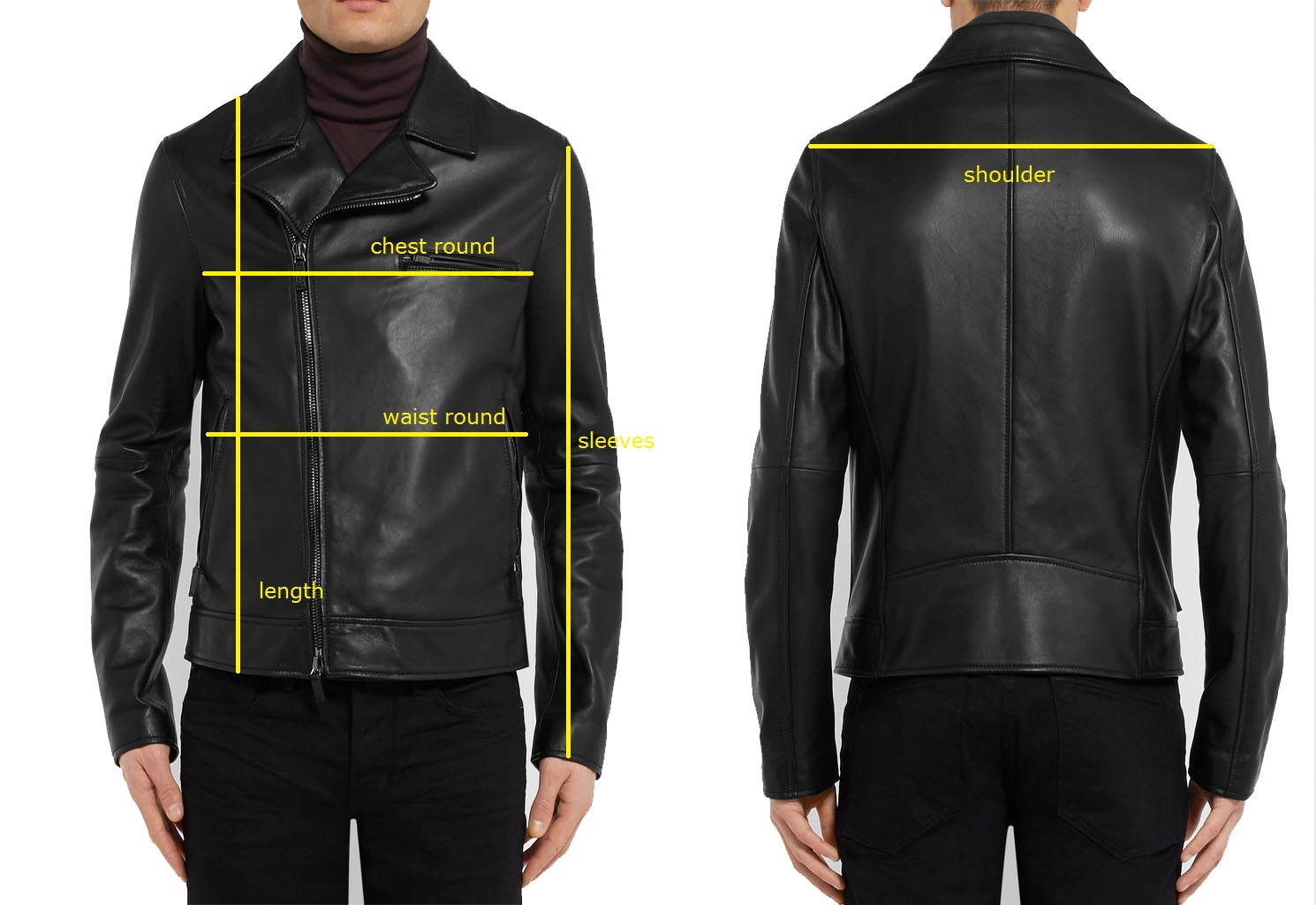 The size tag is American please check the size chart and compare with your jacket or coat.